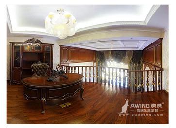 重庆亚博体育app在线下载高端全屋亚博体育app官方下载大鼎湖滨印象别墅二楼书房展示